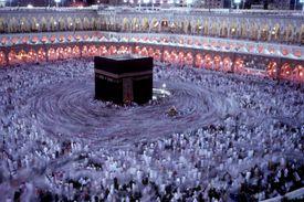 Muslim worshippers circle the Kaaba in Mecca
