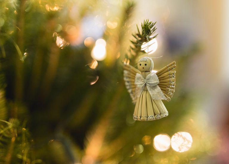 Close-Up Of Decoration On Christmas Tree.
