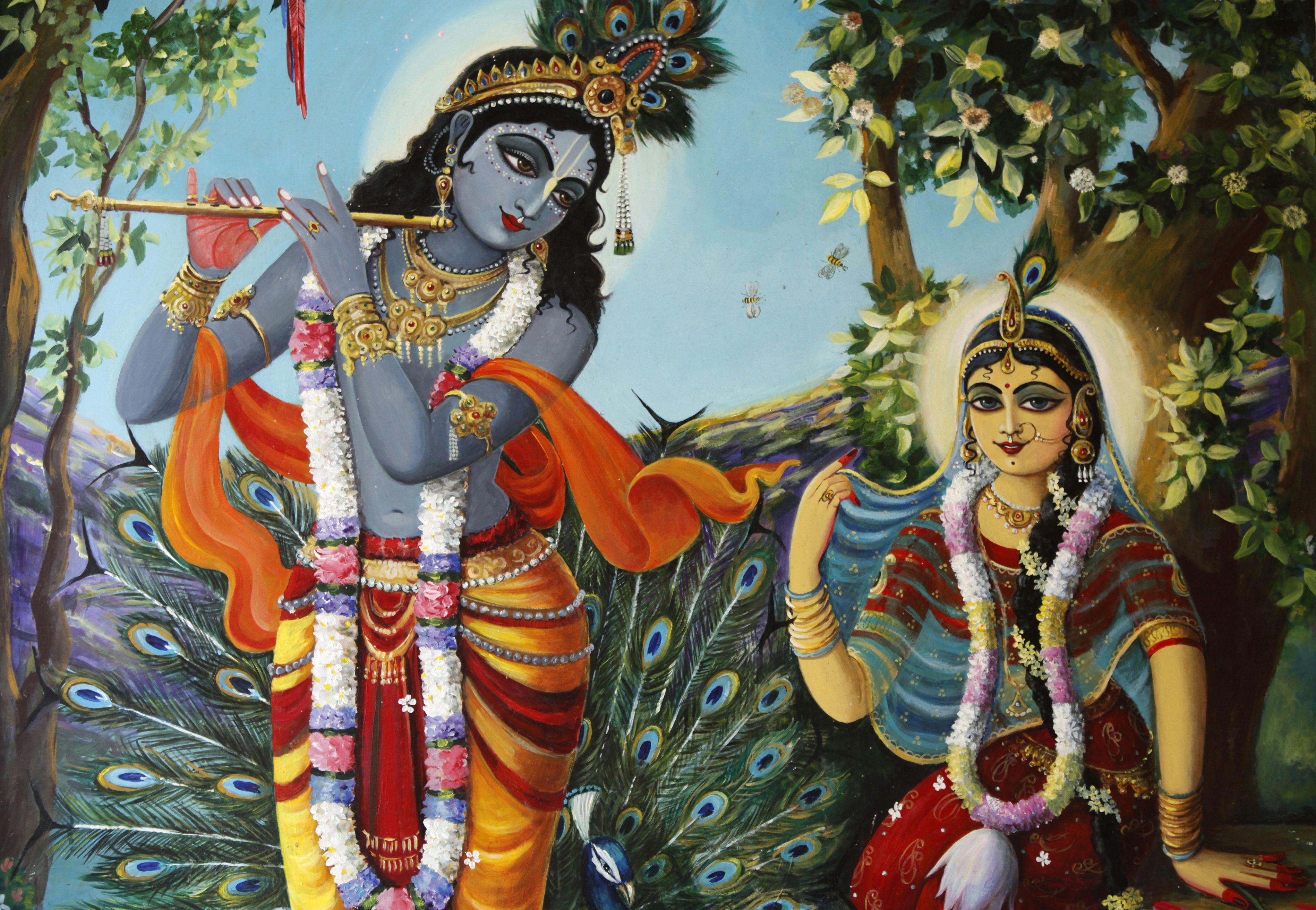 Hindu gods Krishna and Radha