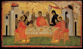Illustration of the Hospitality of Abraham