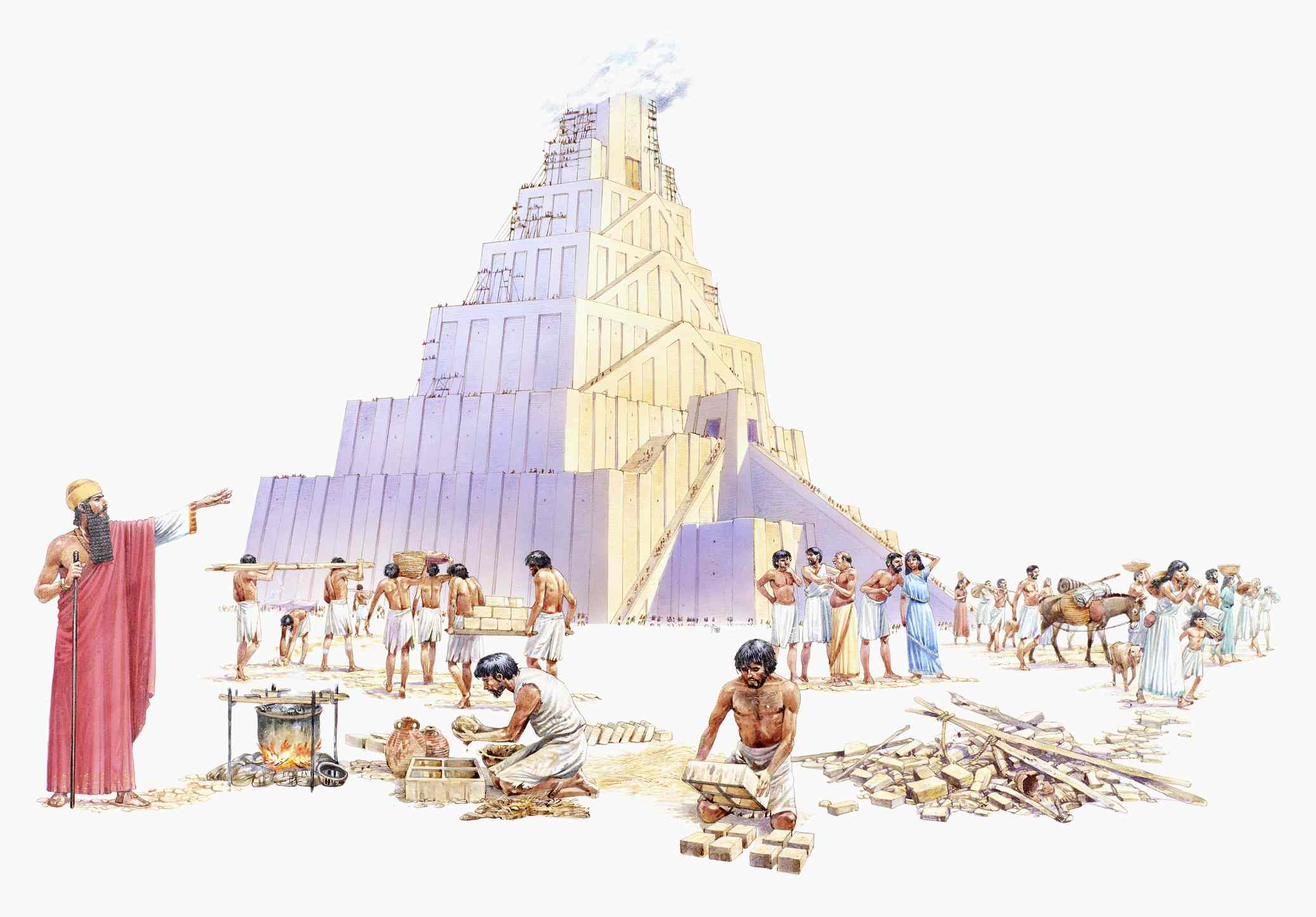 King Nimrod building the Tower of Babel
