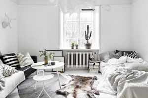 unmade bed nordic style