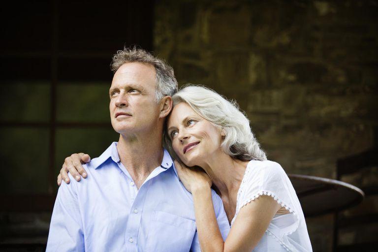 Senior Woman with Arms Around Husband