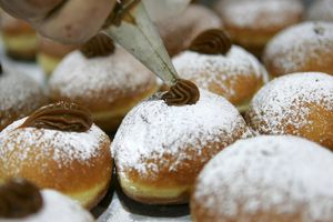 Traditional Food For The Jewish Festival Of Hanukkah