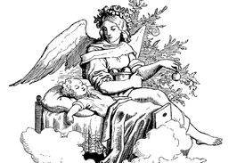 Angel with a Child drawing