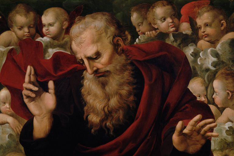 God the Father by Raffaello Sanzio and Domenico Alfani