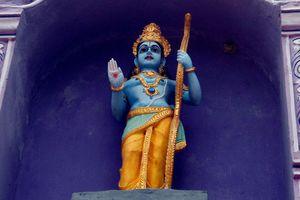Lord Rama statue at Venkateswara Temple in Midhilapuri