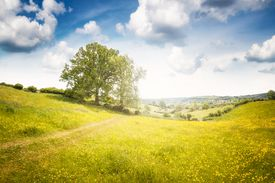 Beautiful Landscape View In Gloucestershire, England