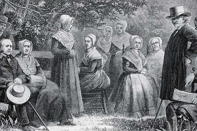 Portrait of Group of Pennsylvania Shakers