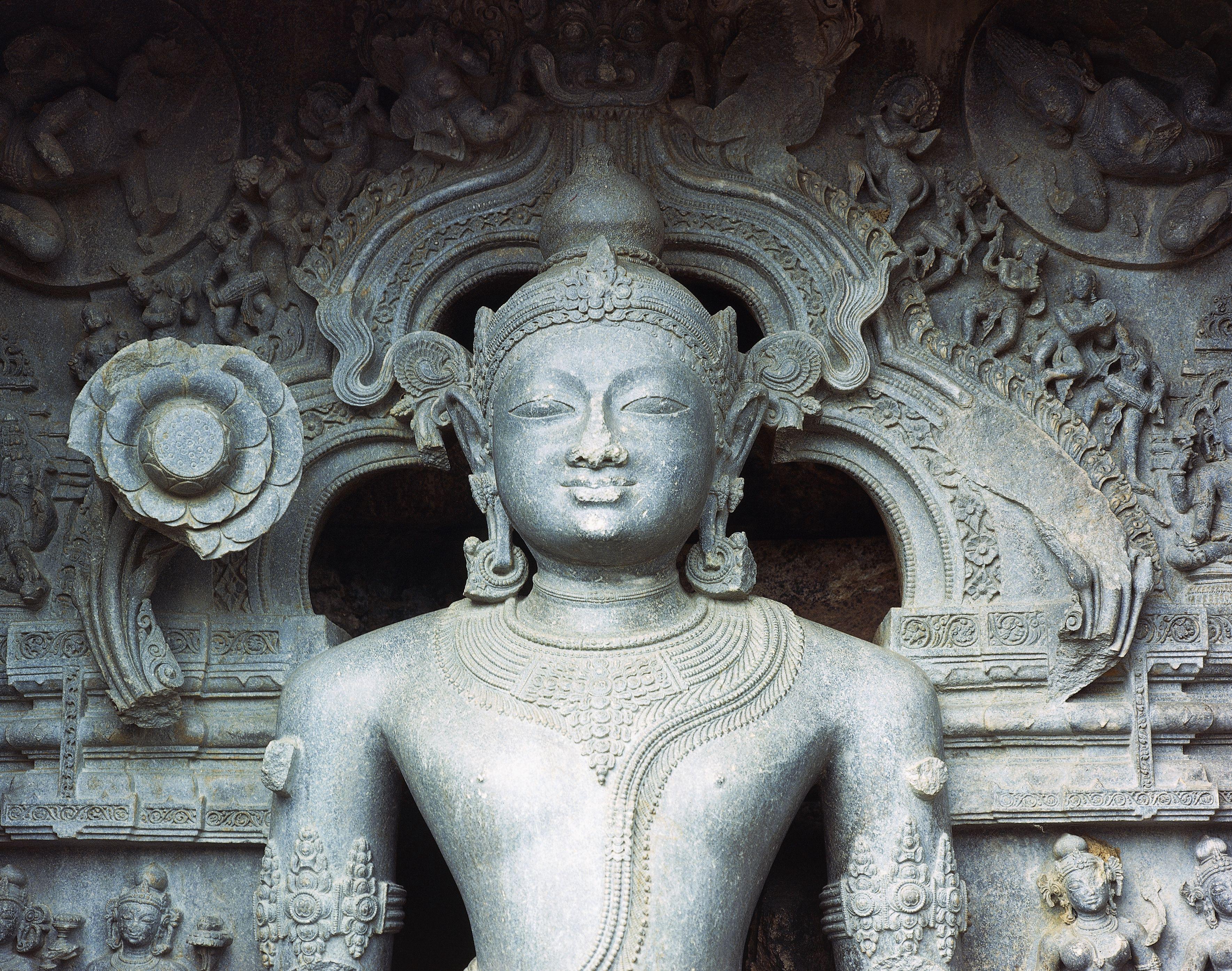 Statue of Sun God (Surya) in green stone, Konark Sun Temple (Surya), or Black Pagoda, built by Narasimhadeva of Gangaintorno Dynasty (1250), (Unesco World Heritage Site, 1984), Konarak, Orissa, India