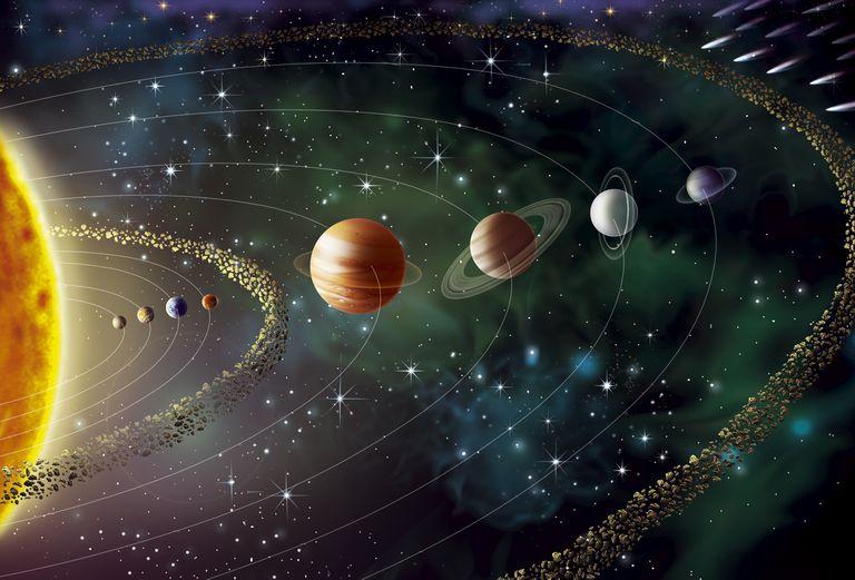 Illustration of the solar system.