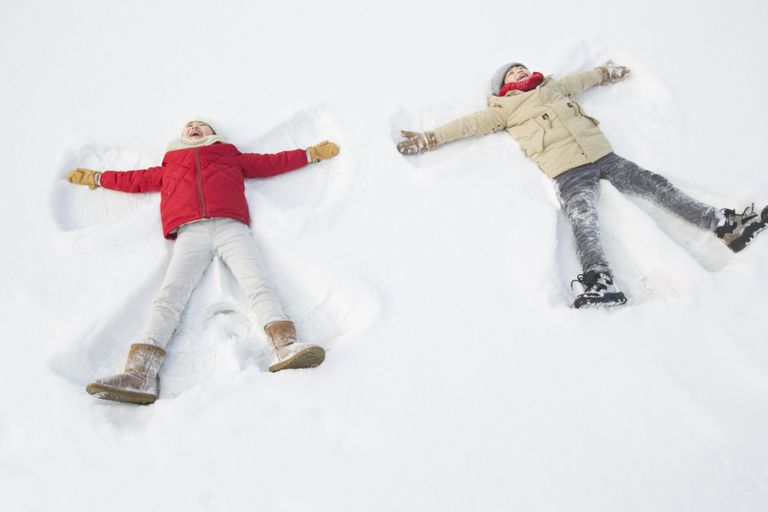 snow angels children kids boy girl