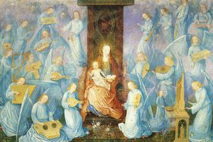 Concert of angels, 16th century, Flemish painting