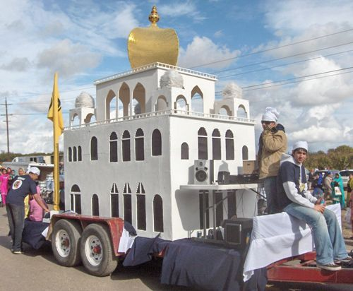 Yuba City Sikh Parade Float With White Temple