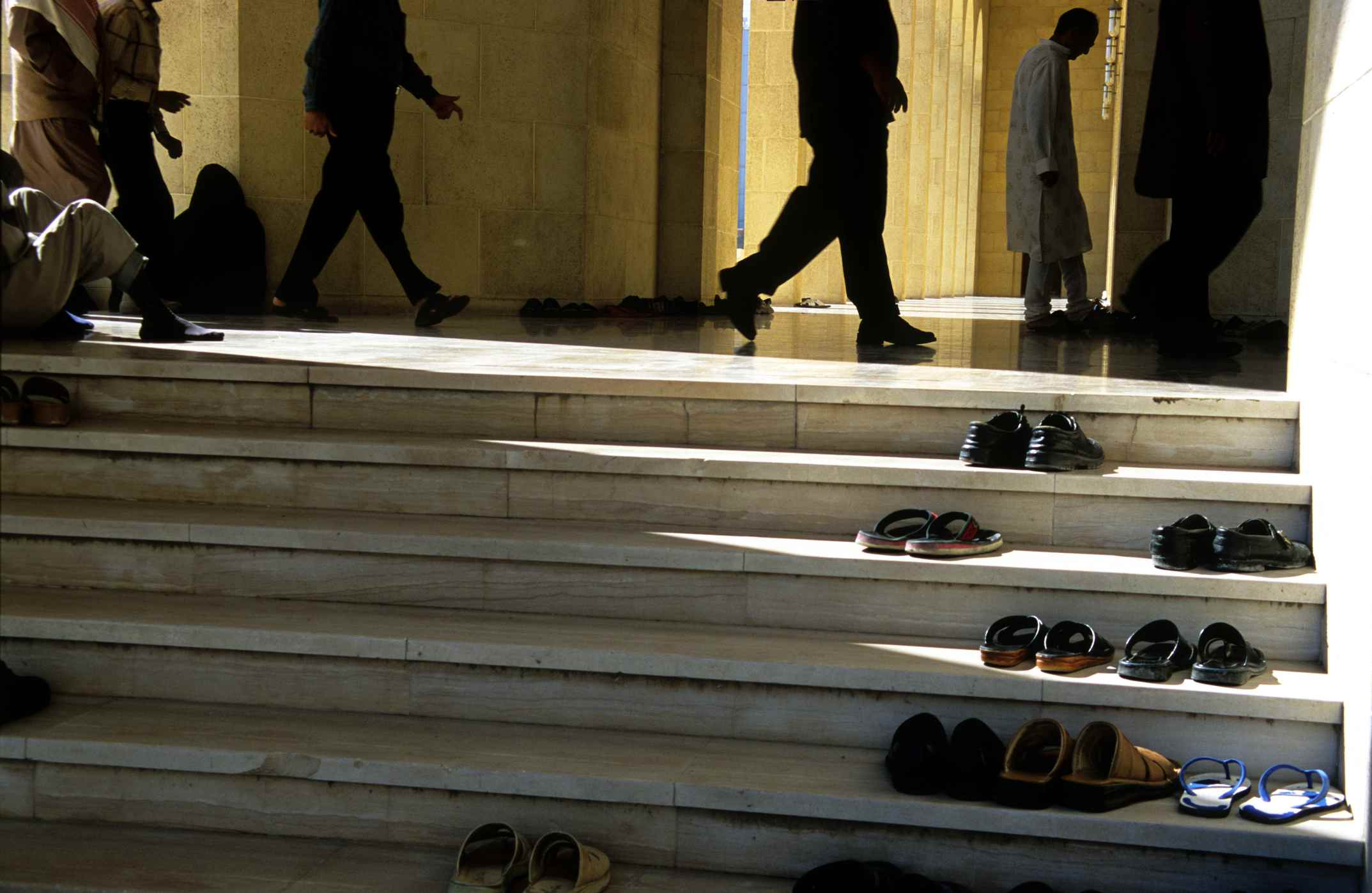shoes outside mosque entry