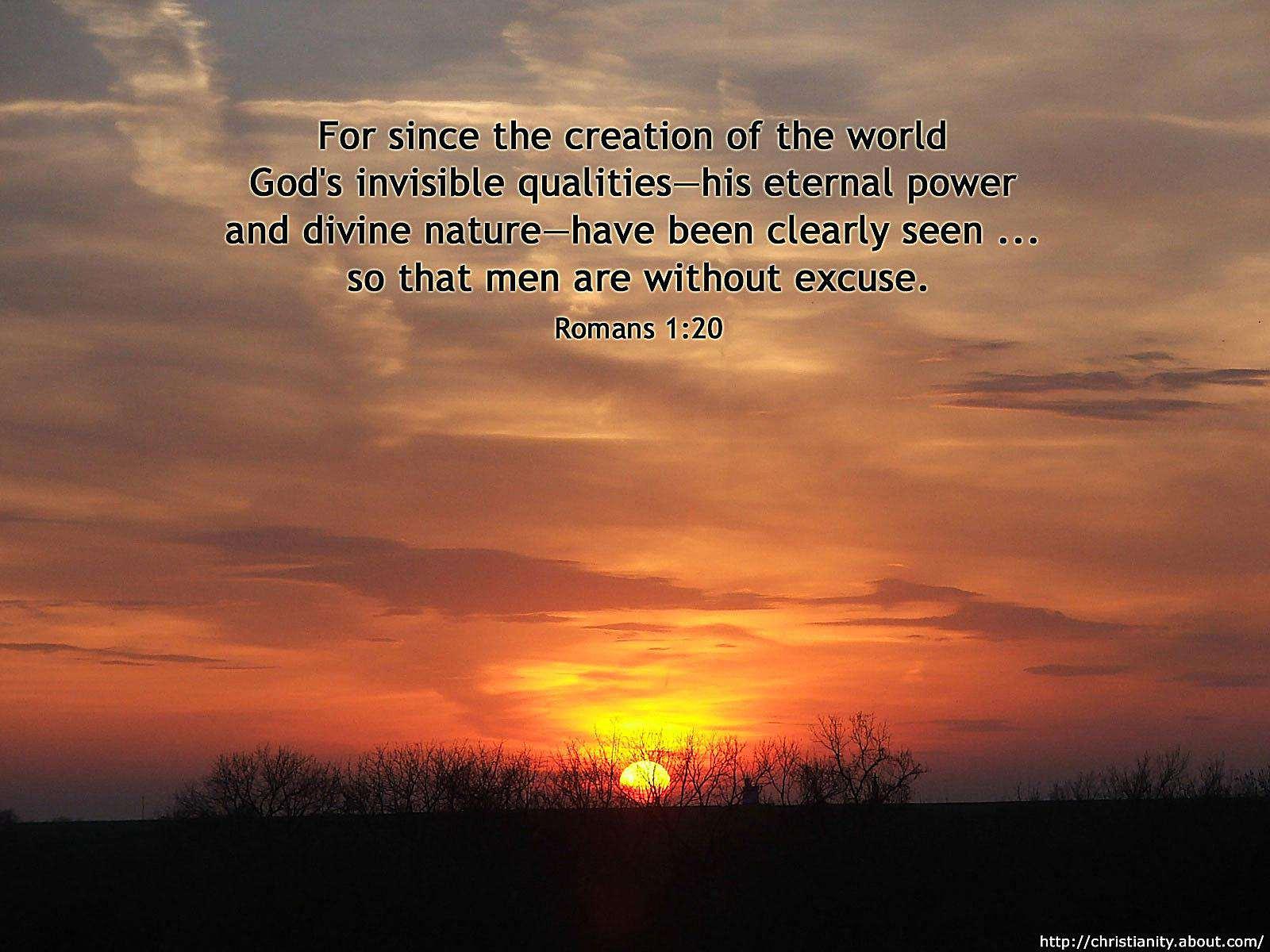 Setting Sun with bible verse
