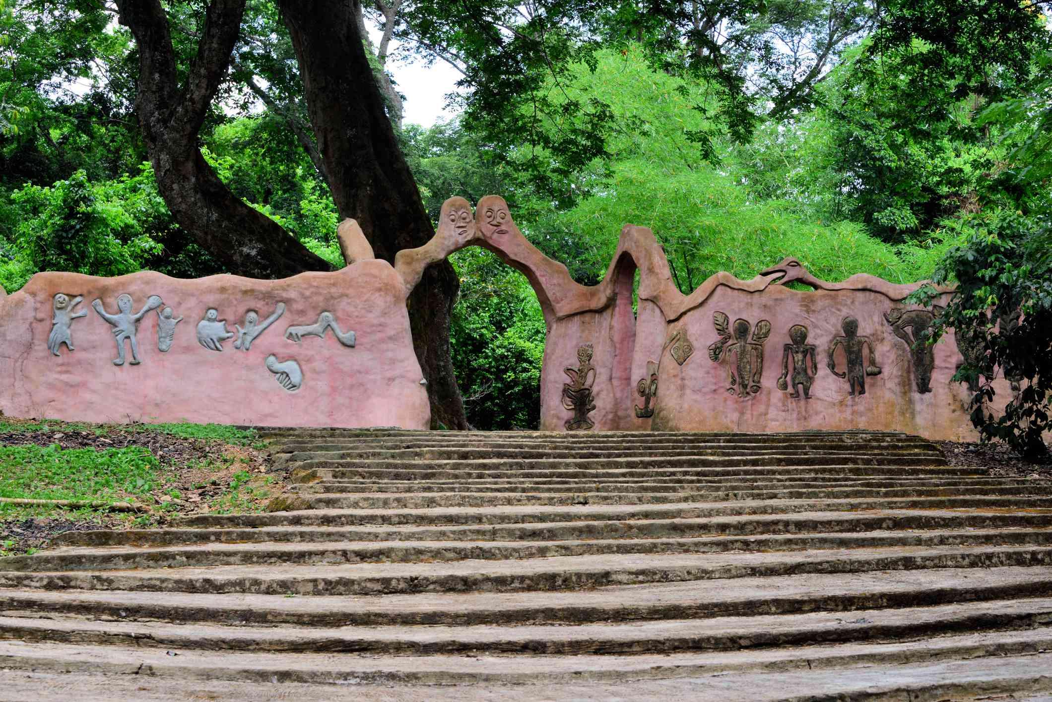 Entrance to the Osogbo temple compound - Osun-Osogbo Sacred Grove, Osogbo, Nigeria