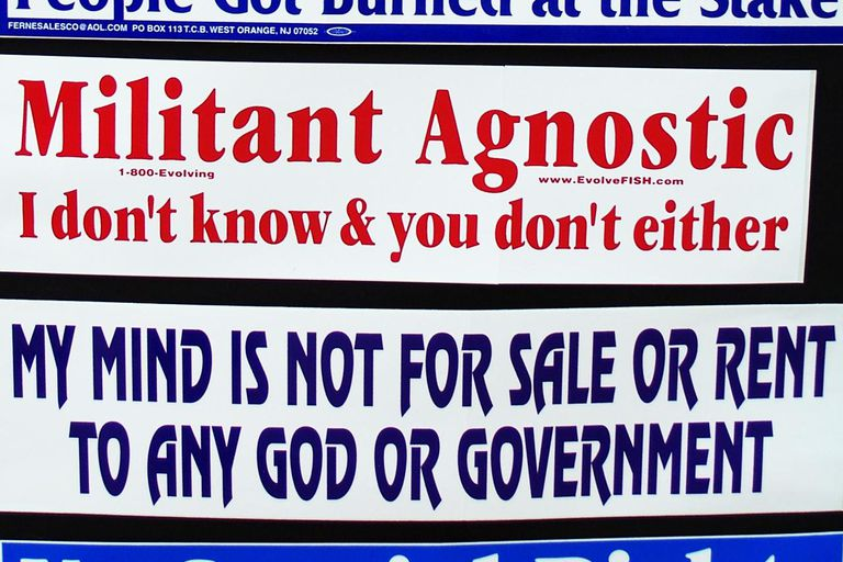 Atheist stickers.