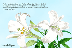 Easter bible verses. Praise be to the God and Father of our Lord Jesus Christ! In his great mercy he has given us new birth into a living hope through the resurrection of Jesus Christ from the dead. (1 Peter 1:3, NIV)