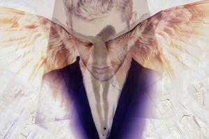 Man praying to angels