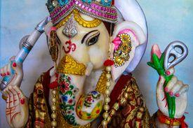 Temple idol of a Hindu god Ganesha