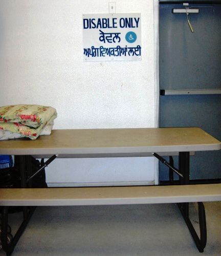 Disabled Only Langar Table
