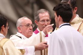 Pope Francis Attends Easter Vigil Mass In The Vatican Basilica