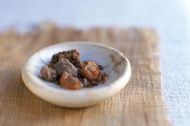 Myrrh in a small saucer