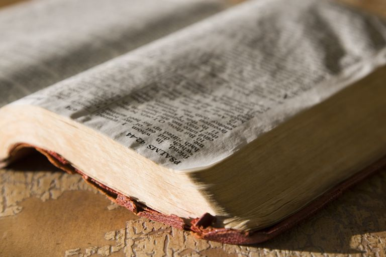 Bible open to the psalms