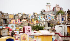 Vietnam, Phu Yen Province, Tuy Hoa, buddhist graveyard