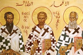 Melkite icon of the Eastern Doctors of the Church