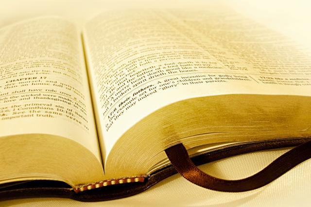 A gold-leaf Bible