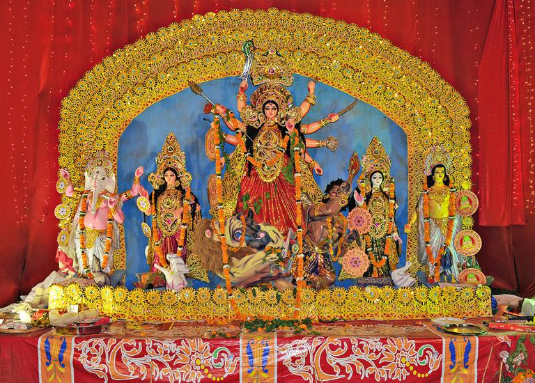Durga Idol, Durga Puja Celebration, New Delhi