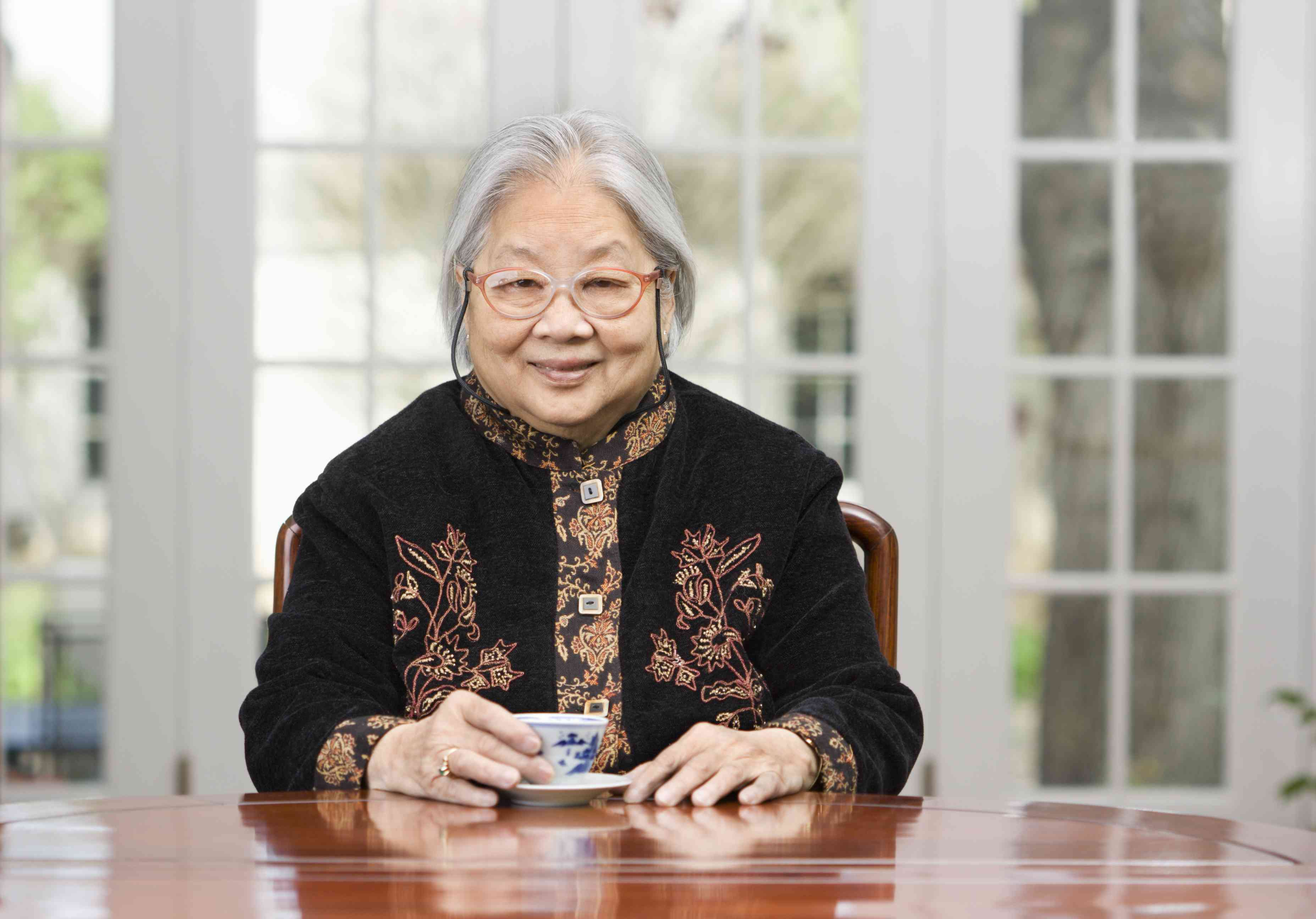 Asian Senior with a Cup of Tea