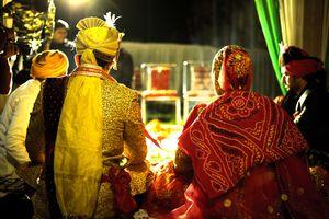 A Sikh wedding ceremony.