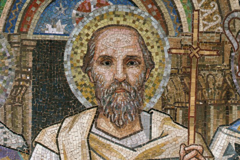 Saint John Chrysostom from Mosaic