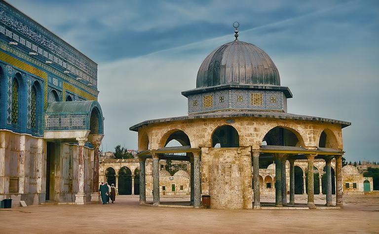 Al-Aqsa Mosque in the Temple of the Mount in old Jerusalem in Israel