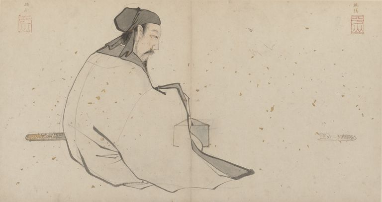 Zhang Lu's painting of Lü Dongbin