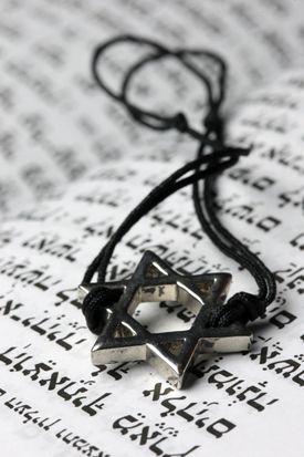 Star of David on a Torah