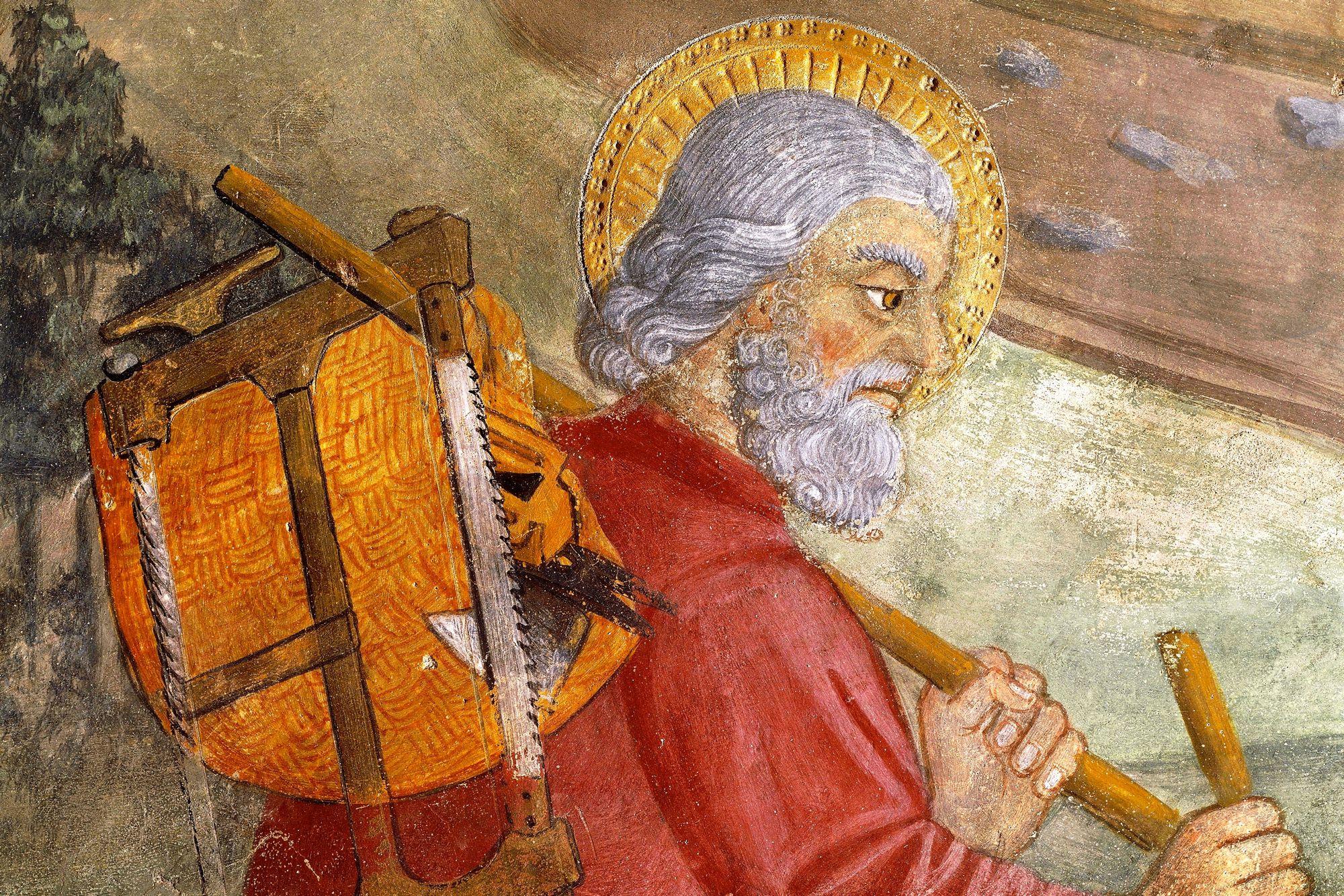 Saint Joseph, detail from Flight Into Egypt