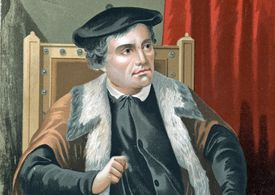 Portrait of Martin Luther, founder of Lutheran Church