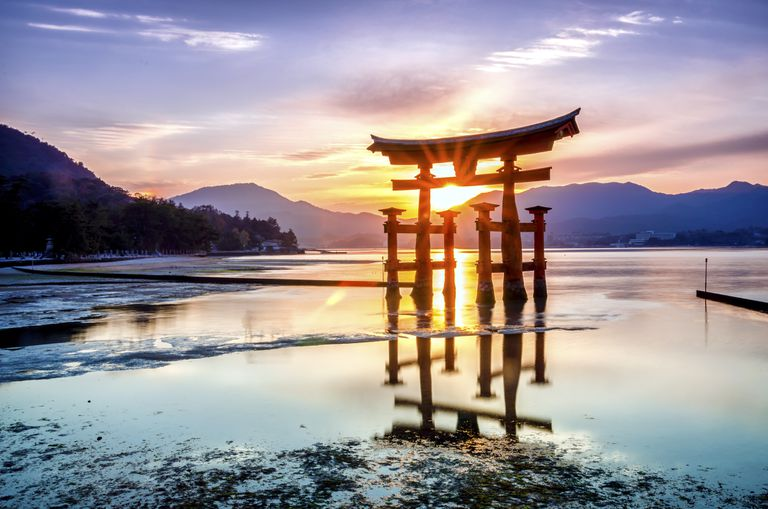 Torii gate of the Itsukushima shrine