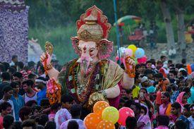 Ganesh Chaturthi Festival, Kalindi Kunj, New Delhi, India- September 5, 2017