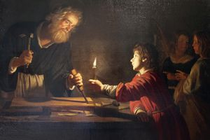 'Childhood of Christ', c. 1620. Detail. Found in the collection of The Hermitage, St Petersburg.