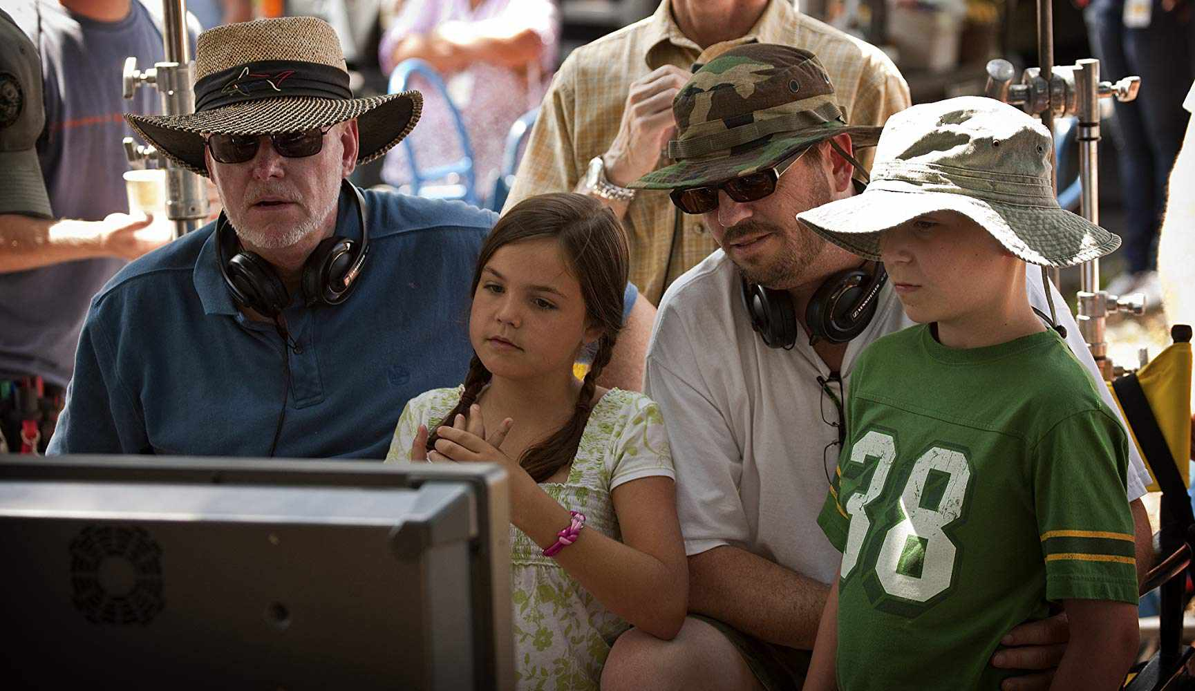 David Nixon, Tanner Maguire, Bailee Madison, and Patrick Doughtie in Letters to God
