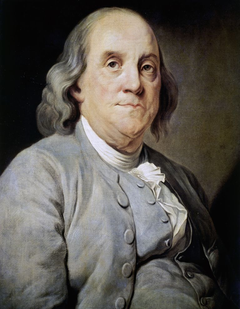 Portrait of Benjamin Franklin (Boston, 1706-Philadelphia, 1790), scientist and politician, ca 1785, painting by Joseph Duplessis Siffred (1725-1802), oil on canvas, United States of America, 18th century