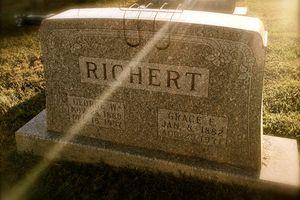 Richert gravestone, Saint Peter's Lutheran Church, Corydon, IN. (Photo © Scott P. Richert)