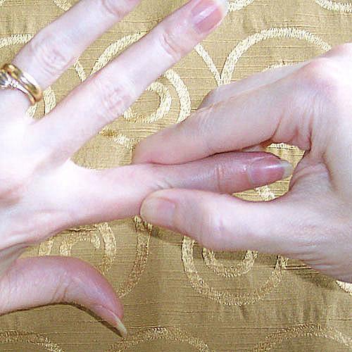 Photos de réflexologie des mains