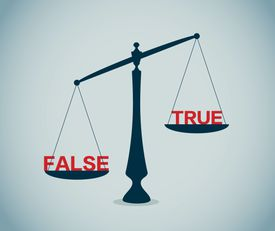 Fals and true on scale