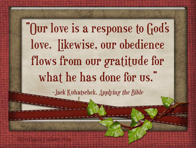 Encouragement for Men: Obedience Expresses Our Gratitude